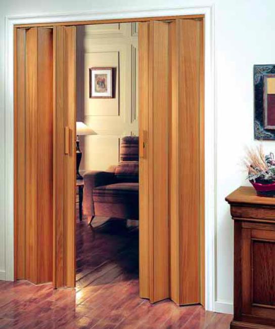 Puertas plegables raumplus serie legno bricoteo - Kit puertas plegables ...
