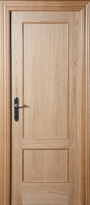 Puerta de madera uniarte f 2 roble americano barniz for Puertas de roble